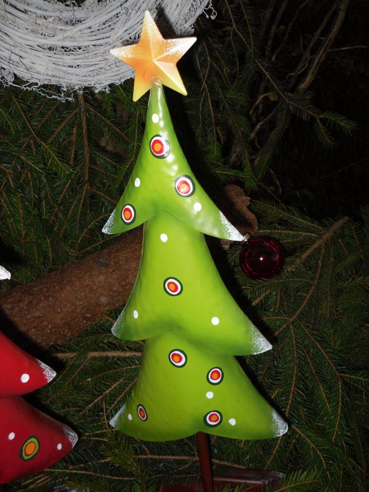 tanne weihnachtsbaum aus metall gr n 48 cm deko handbemalt weihnachten ebay. Black Bedroom Furniture Sets. Home Design Ideas